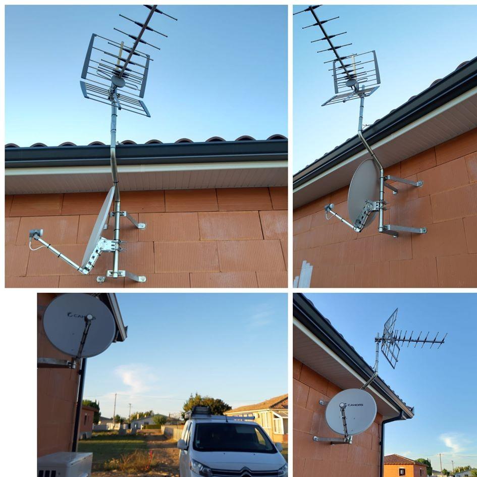 Pose antenne + parabole à Pamiers 09100